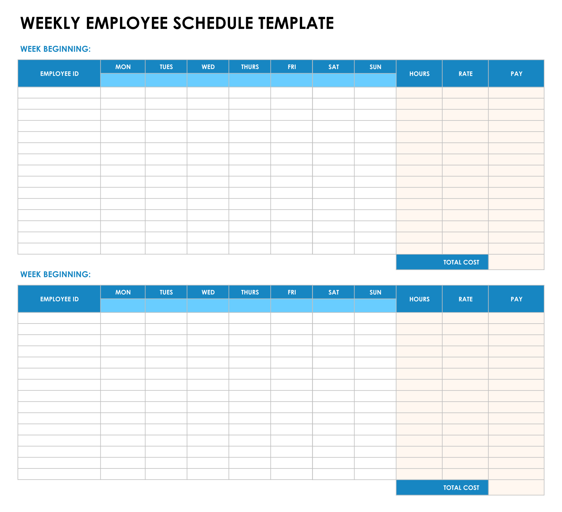blank timesheets