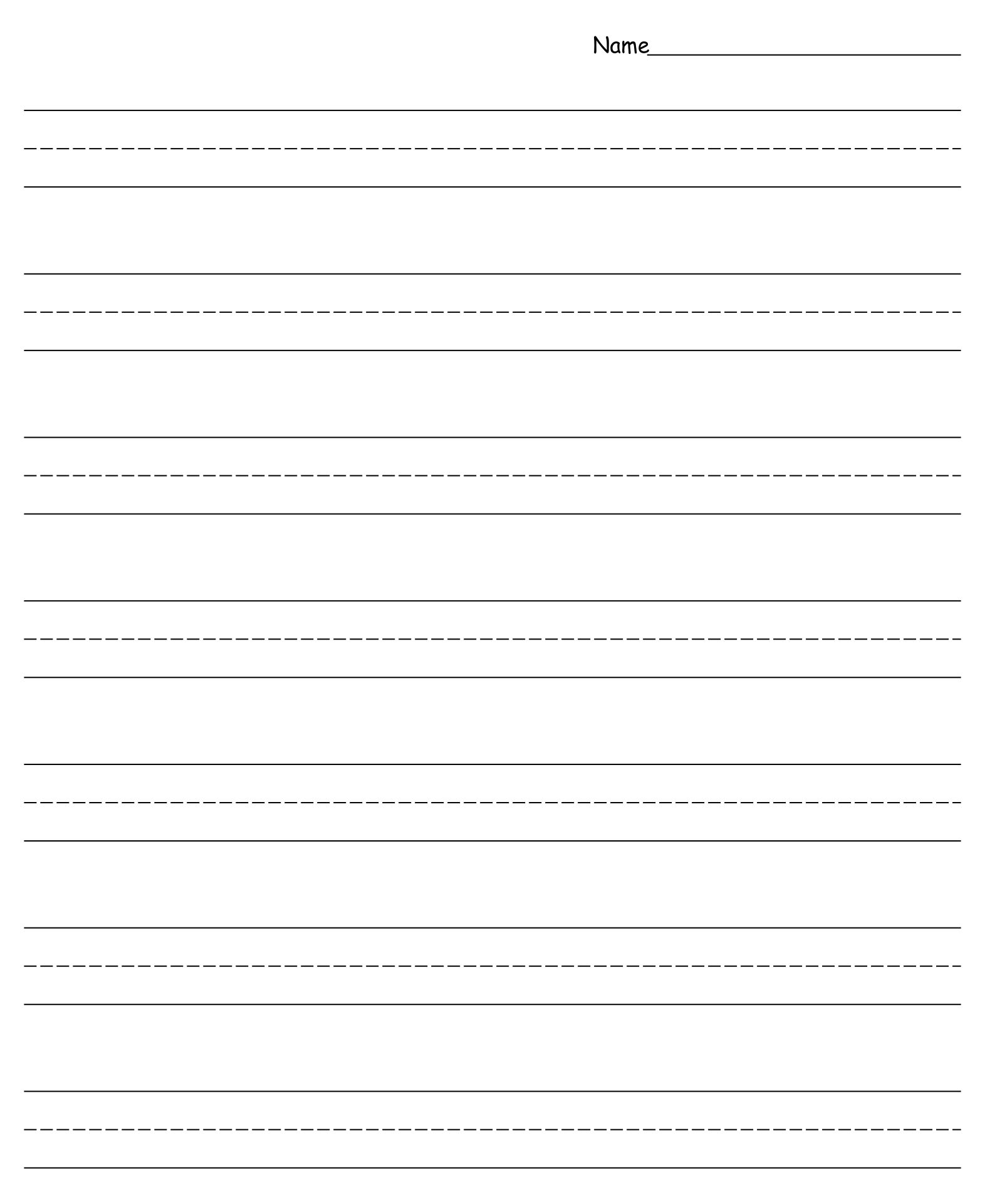 7 best images of blank cursive worksheets printable free printable kindergarten writing paper. Black Bedroom Furniture Sets. Home Design Ideas