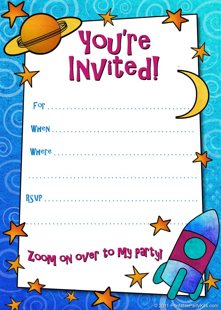 9 Images of Free Boy Printable Invitation Cards