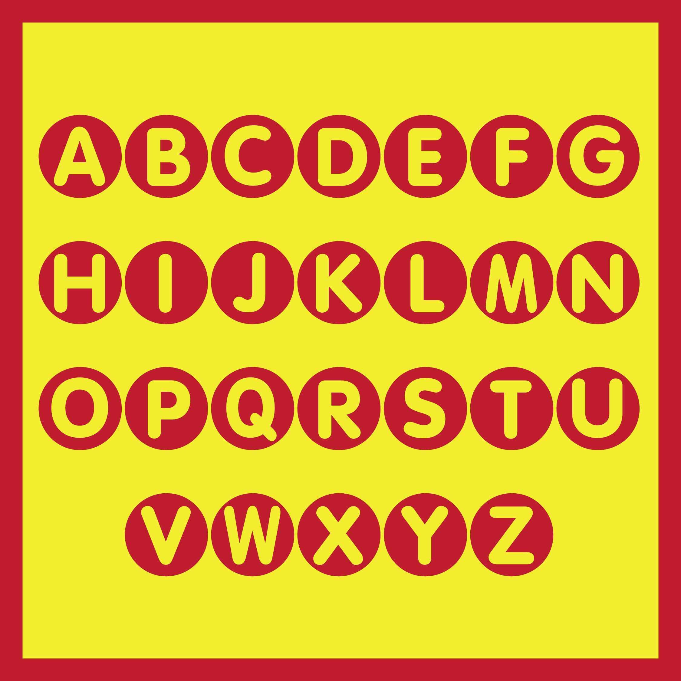 Circle Printable Alphabet Letters