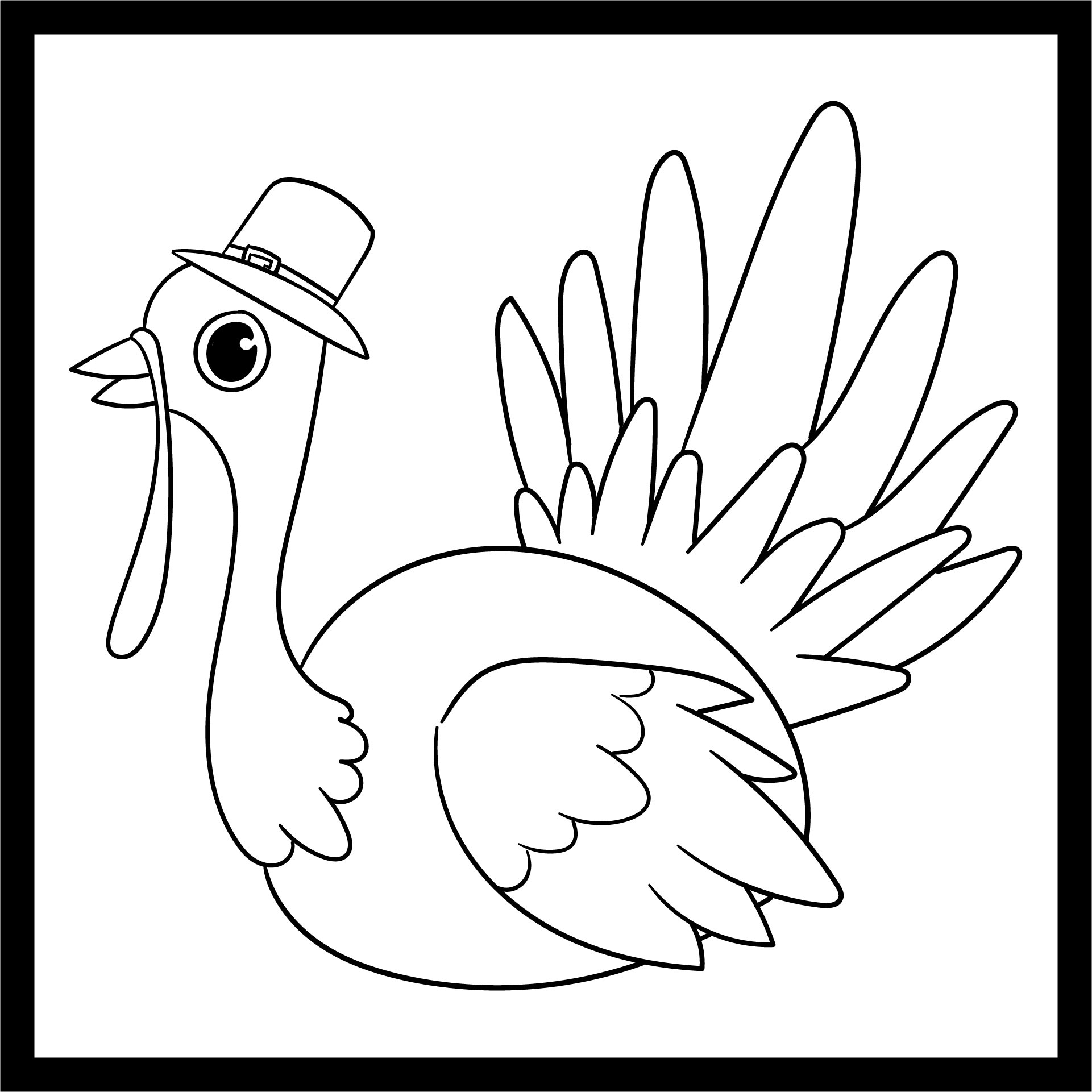Color Turkey Printable Coloring Pages