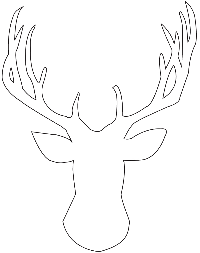 template for reindeer antlers - 8 best images of free printable deer silhouette antlers