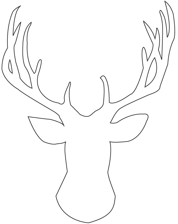 8 best images of free printable deer silhouette antlers for Template for reindeer antlers