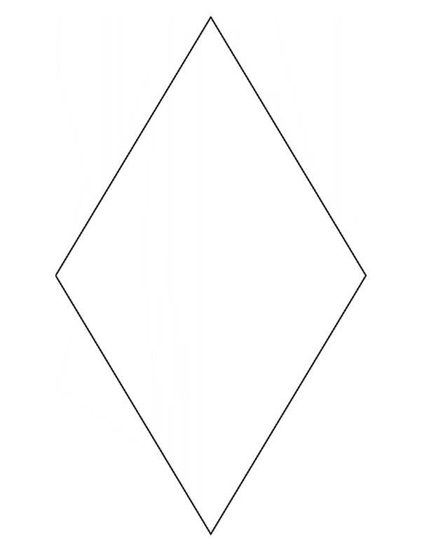 4 Images of Free Printable Diamond Shape Template