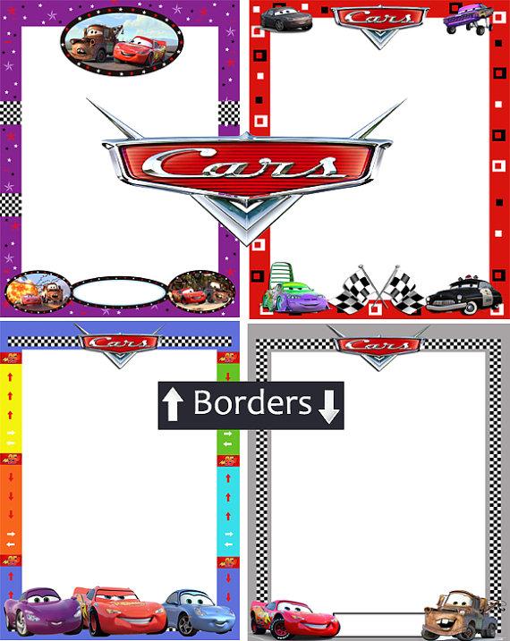 Disney Cars Borders and Frames