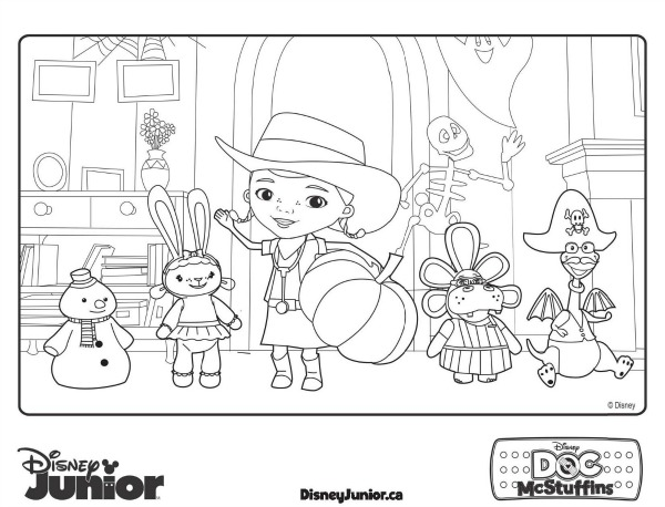 Disney Coloring Pages Doc Mcstuffins : Best images of disney doc mcstuffins coloring printables