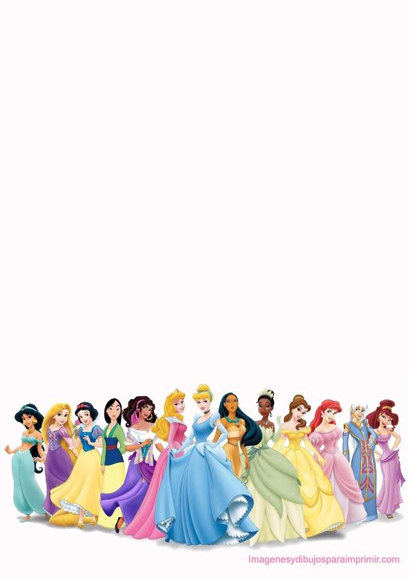 Disney Princess Border Paper Printable