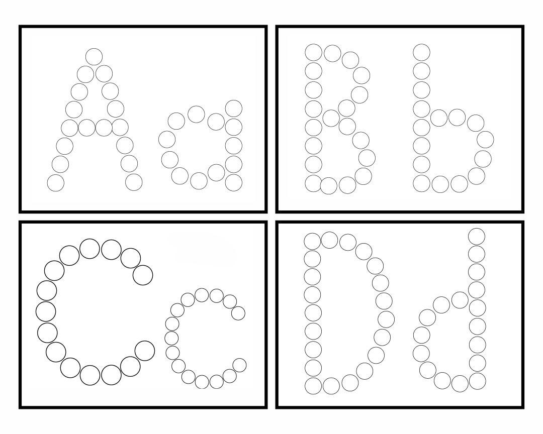 Dot Marker Letters