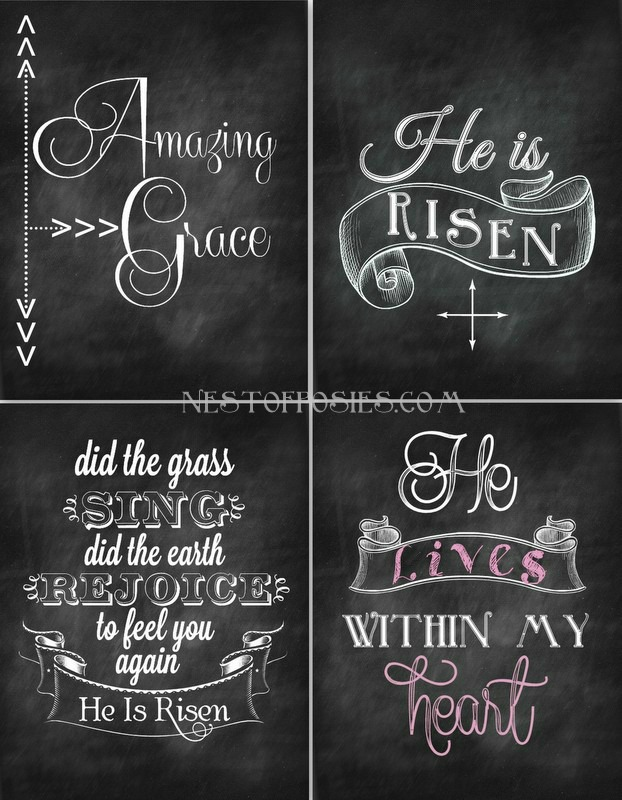 6 Images of Free Easter Chalkboard Printables