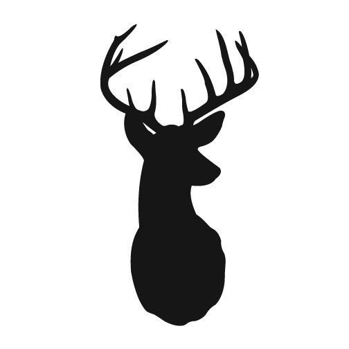 8 Images of Free Printable Deer Silhouette Antlers