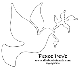 4 Images of Free Printable Dove Stencil