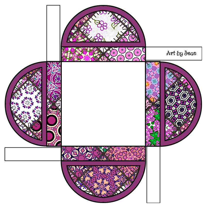 7 Images of Pattern Printable Gift Box
