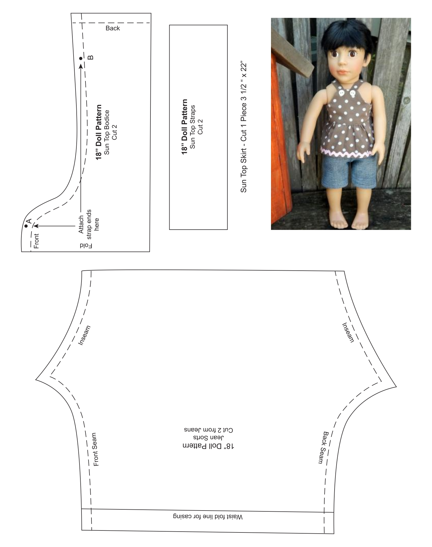 Printable 18 Doll Clothes Patterns