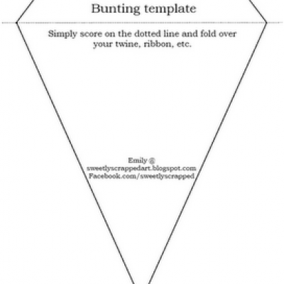 4 Images of Printable Paper Bunting Template