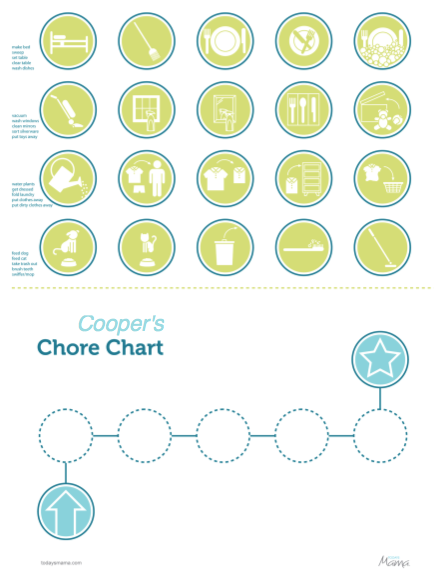 4 Images of Printable Chore Chart Icons