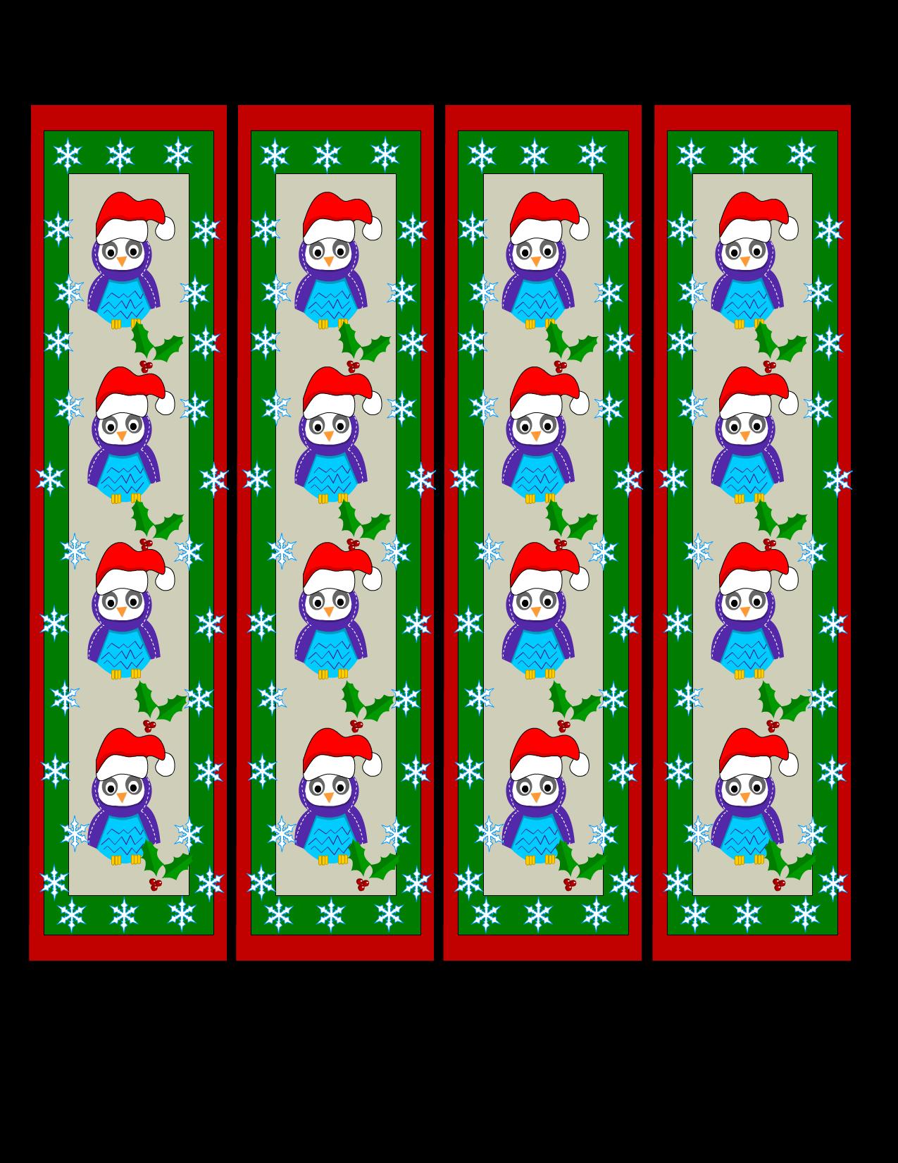 Free Printable Christmas Bookmarks
