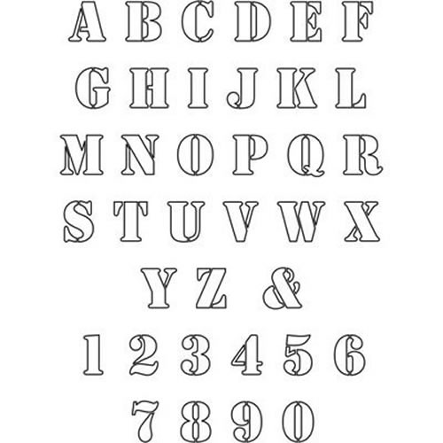 8 best images of printable 5 39 stencils all letters 5 for Free printable alphabet templates