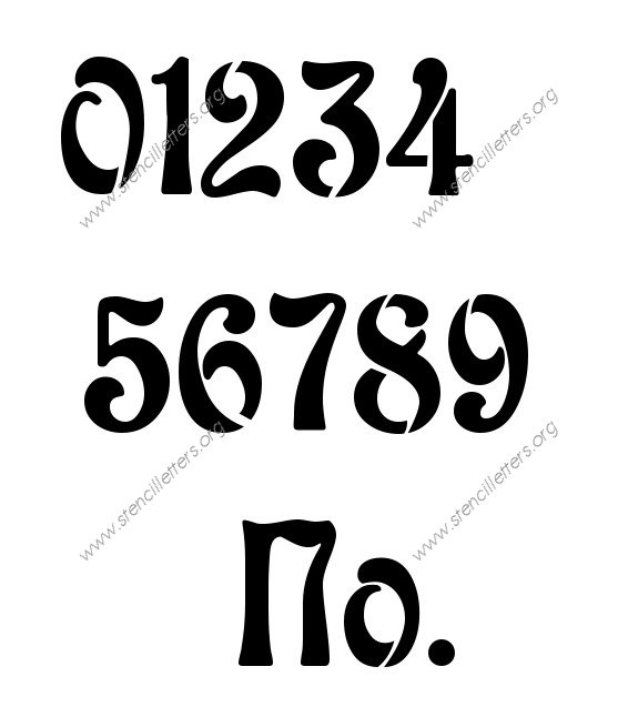 7 best images of large fancy printable numbers fancy for Free number templates to print