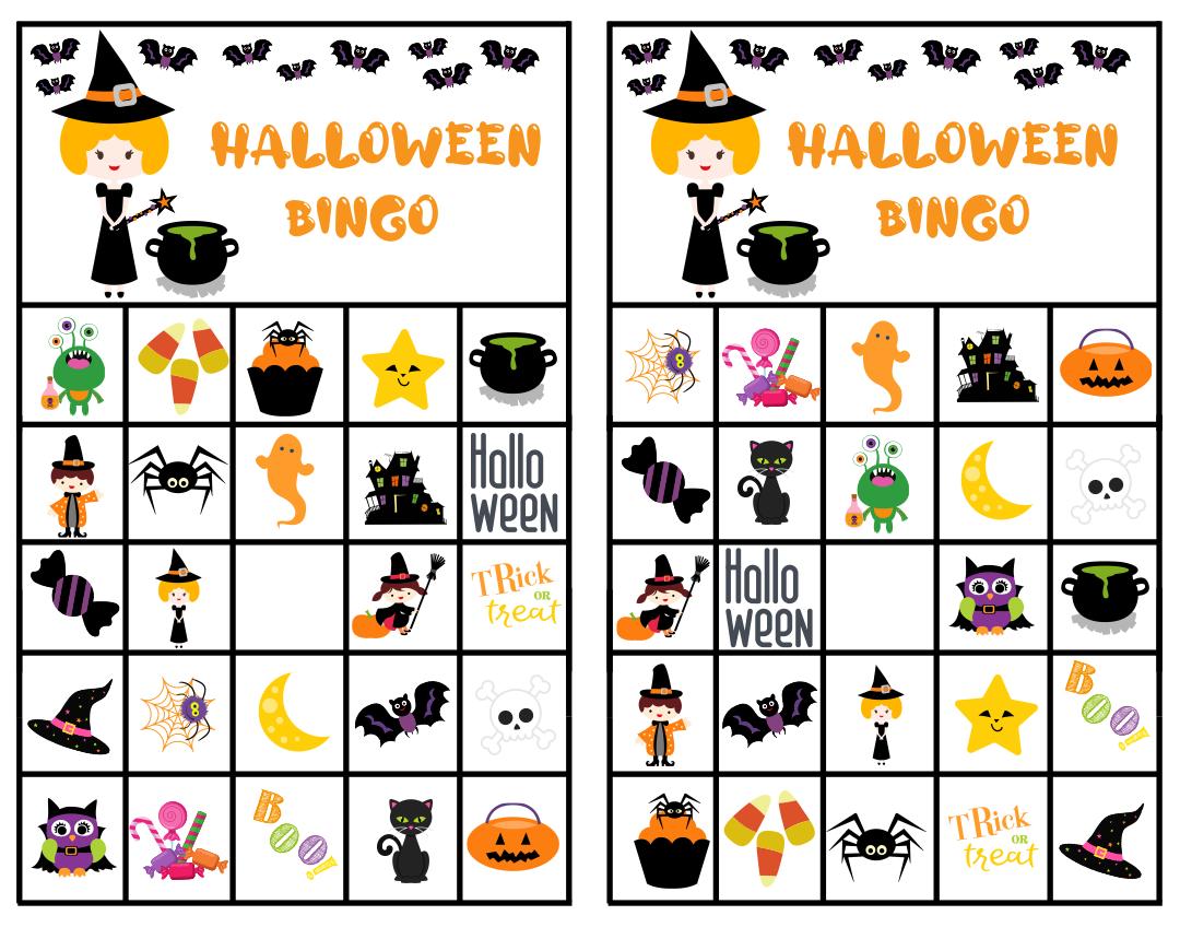 5 Images of Printable Halloween Bingo Cards