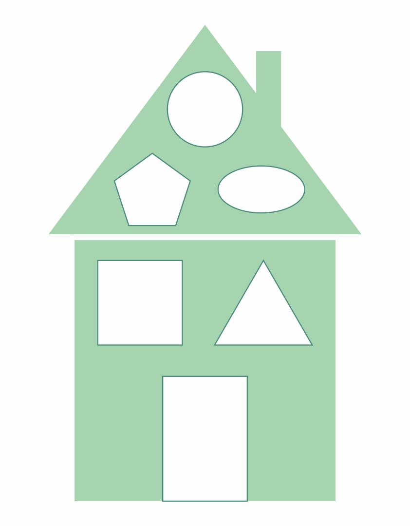Printable House Shapes Worksheet