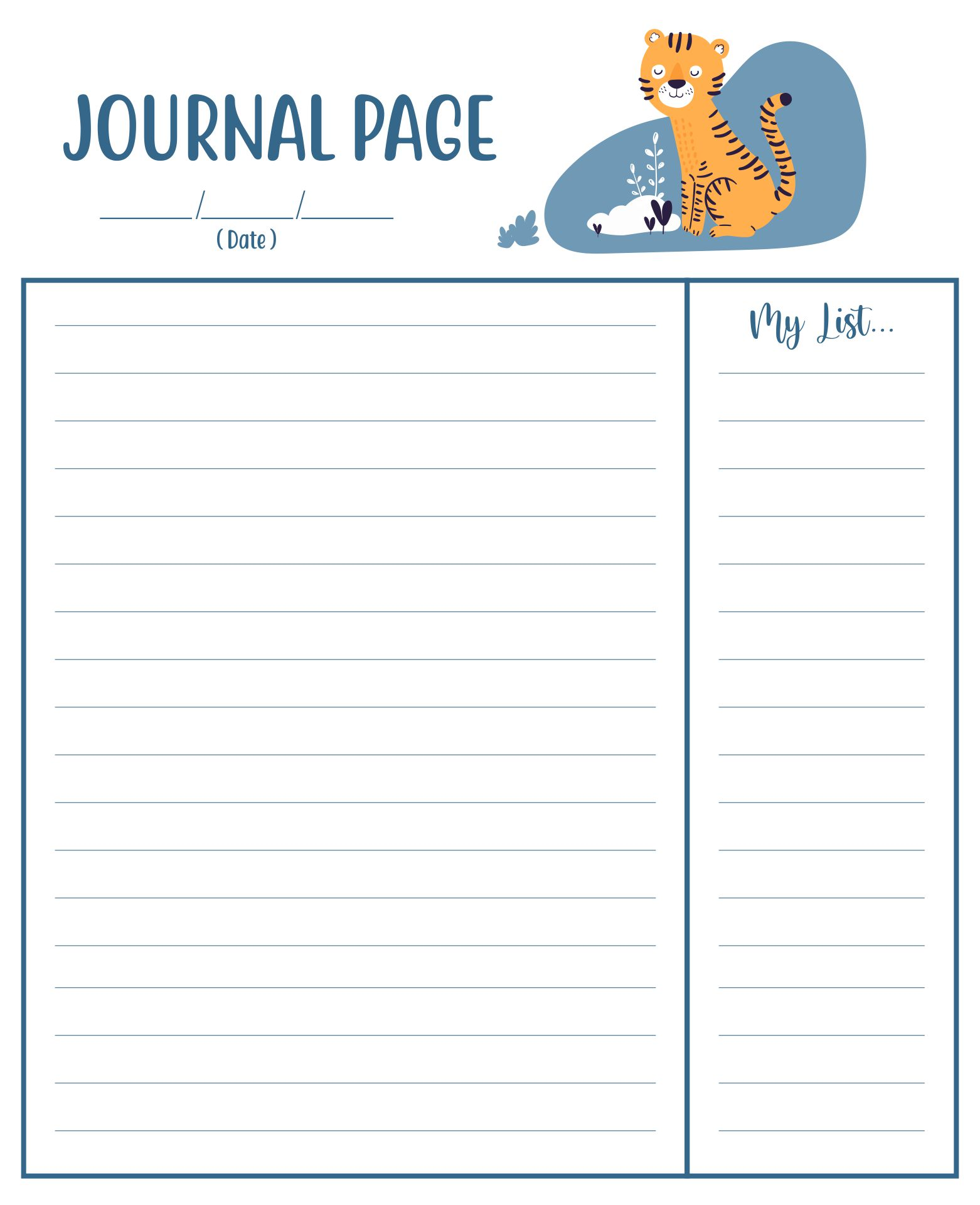 Free Printable Journal Writing Pages