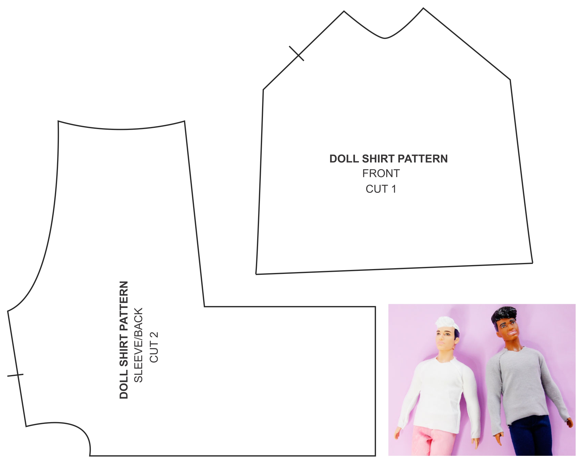 Printable Ken Doll Clothes Sewing Patterns