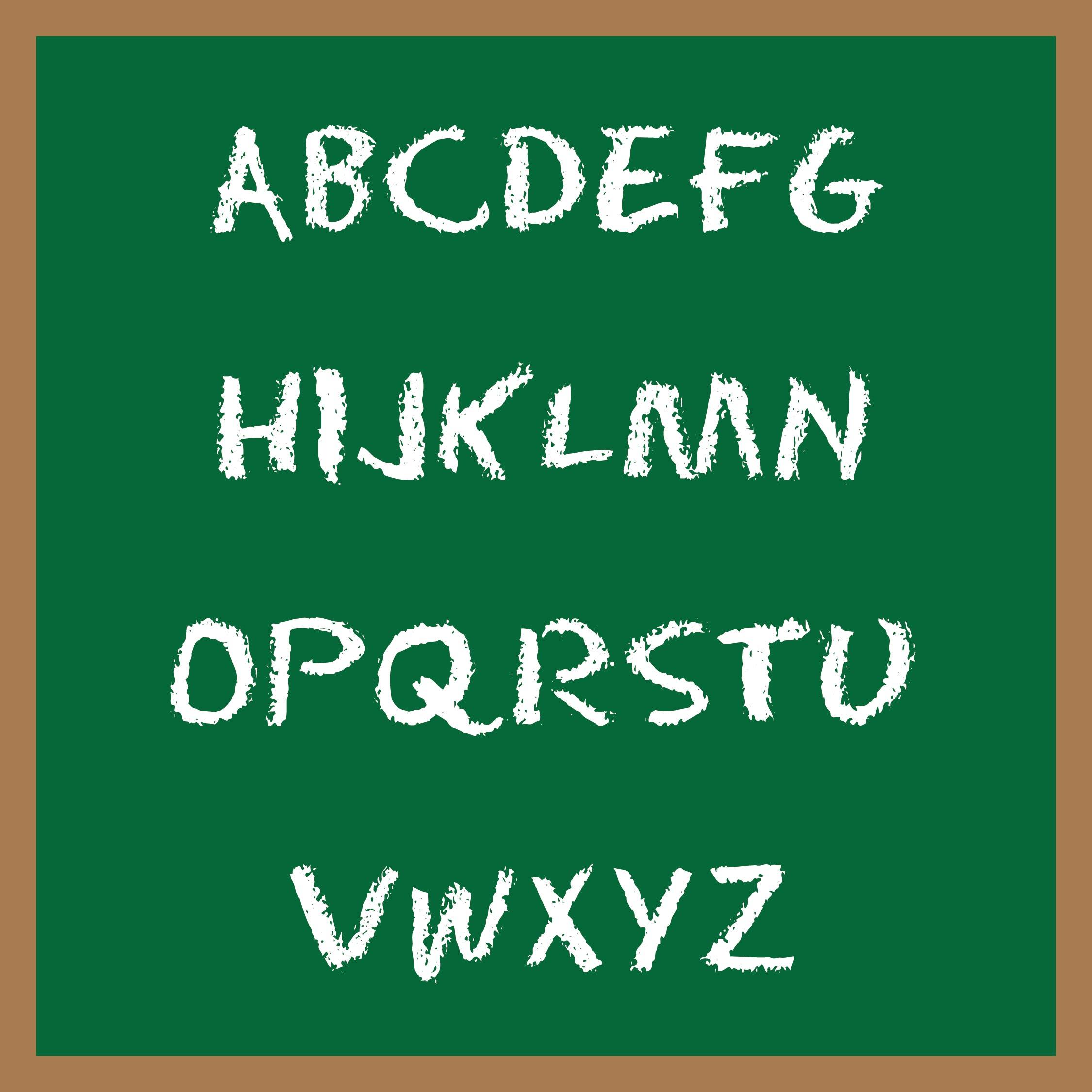 Large Alphabet Letter Template