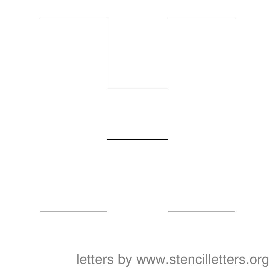 7 Images of Printable Letter Stencils H