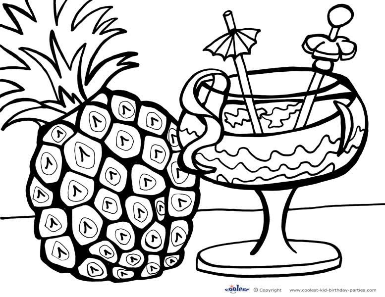 Free Printable Luau Coloring Pages