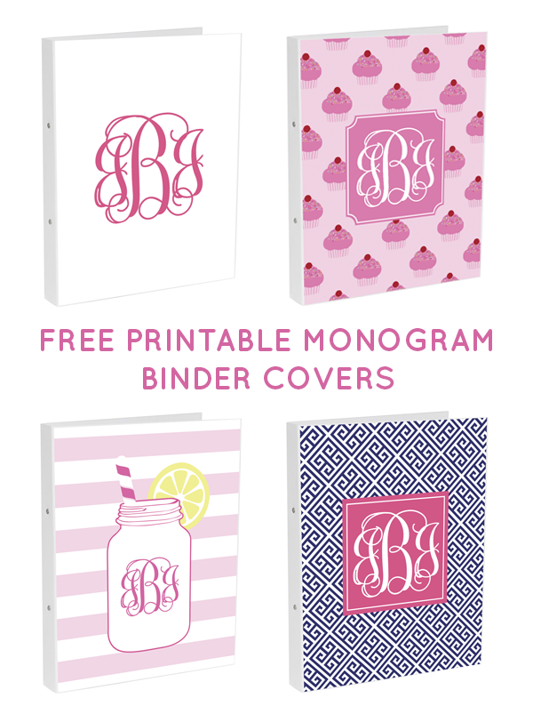 6 Images of Printable Monogram Binder Covers Template