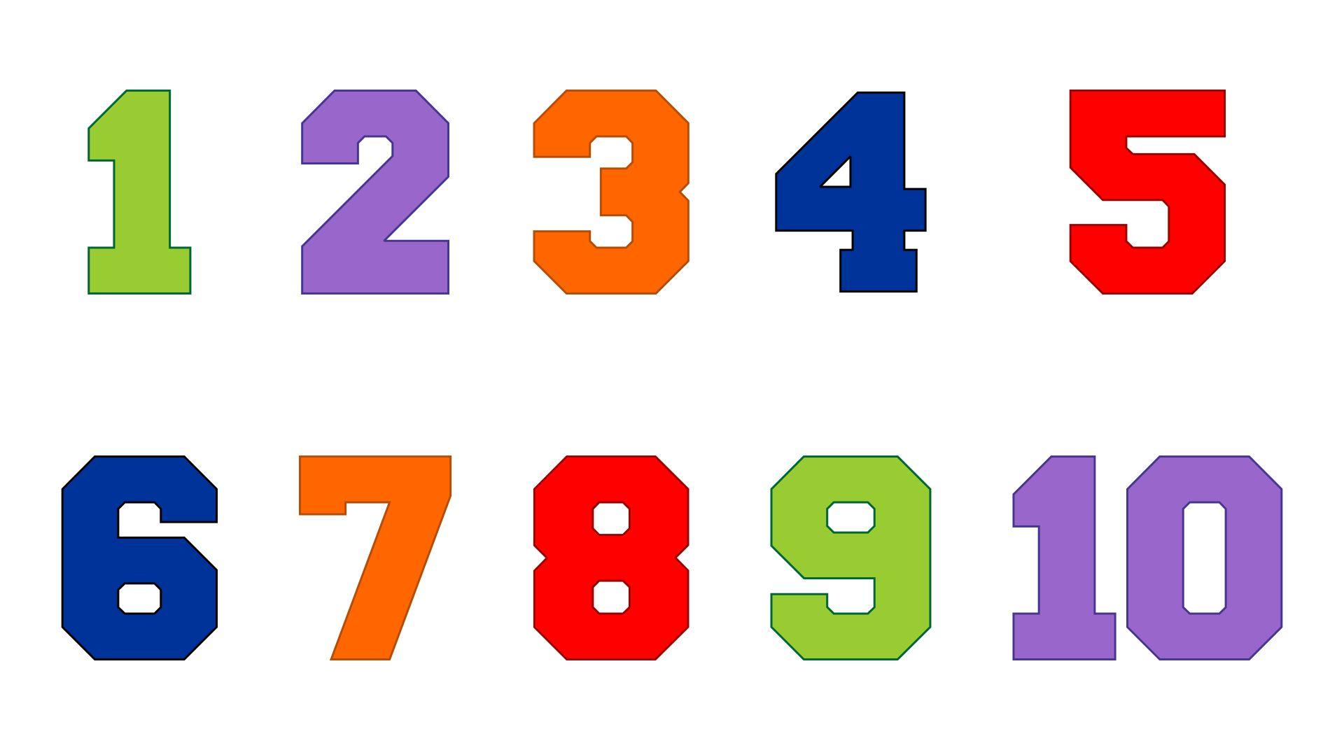 Printable Numbers 1 10