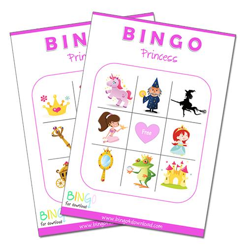 8 Images of Princes And Princess Bingo With Printable