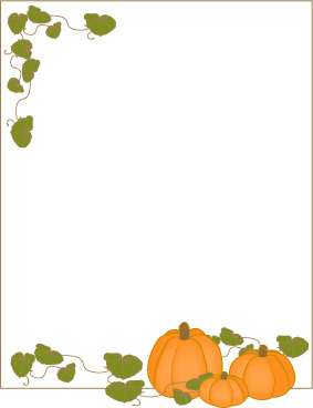 5 Images of Printable Harvest Borders
