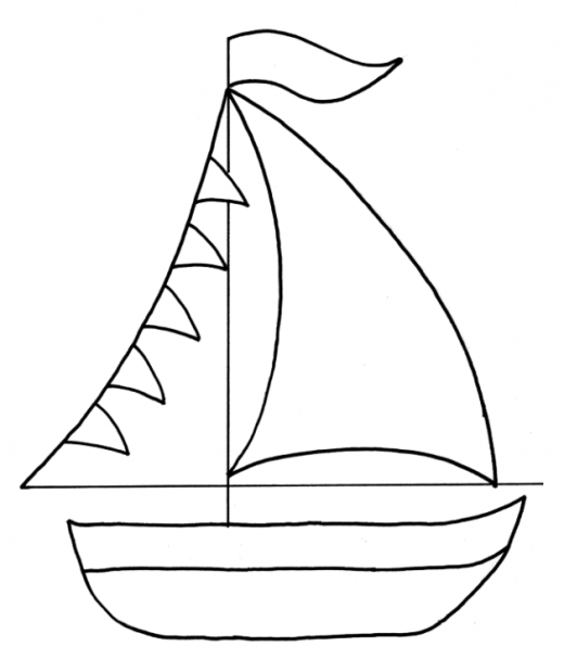 Anchor Template For Cake