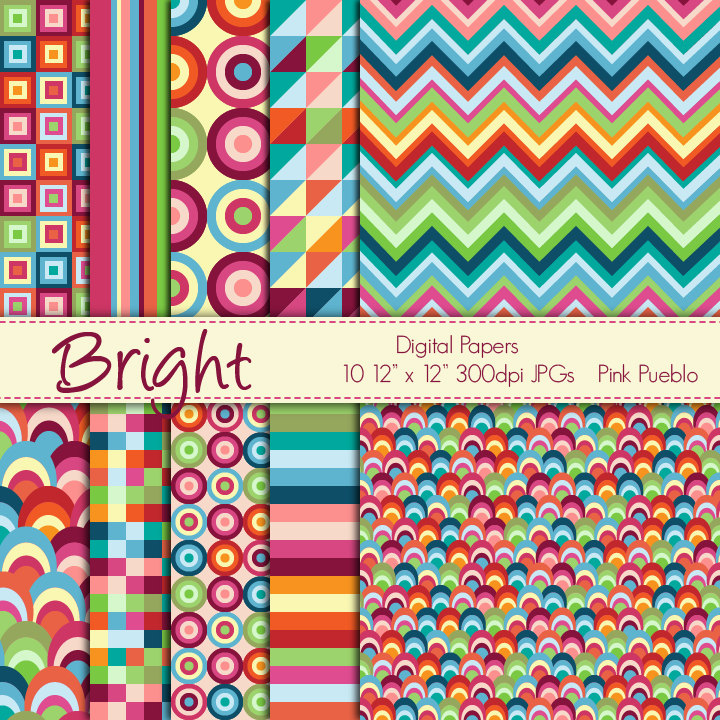 5 Images of Free Printable Scrapbook Paper Bright