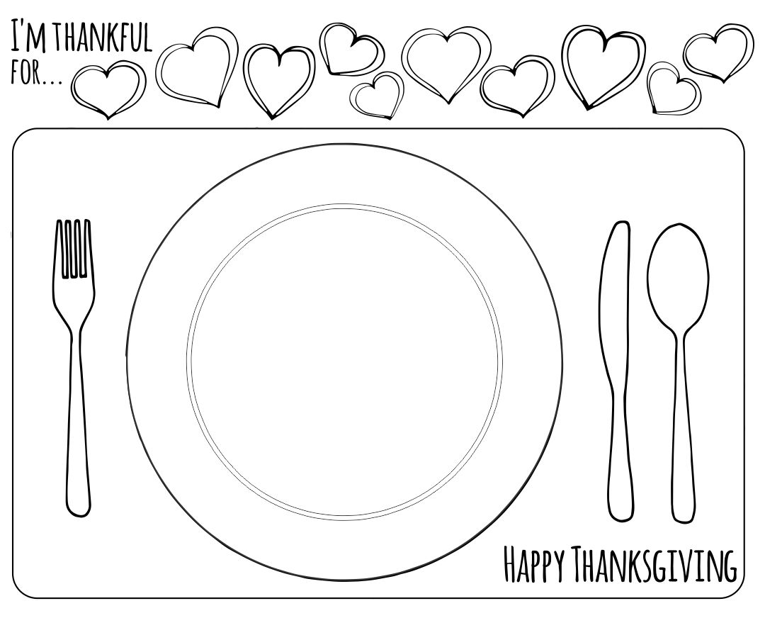 Printable Thanksgiving Placemat Craft