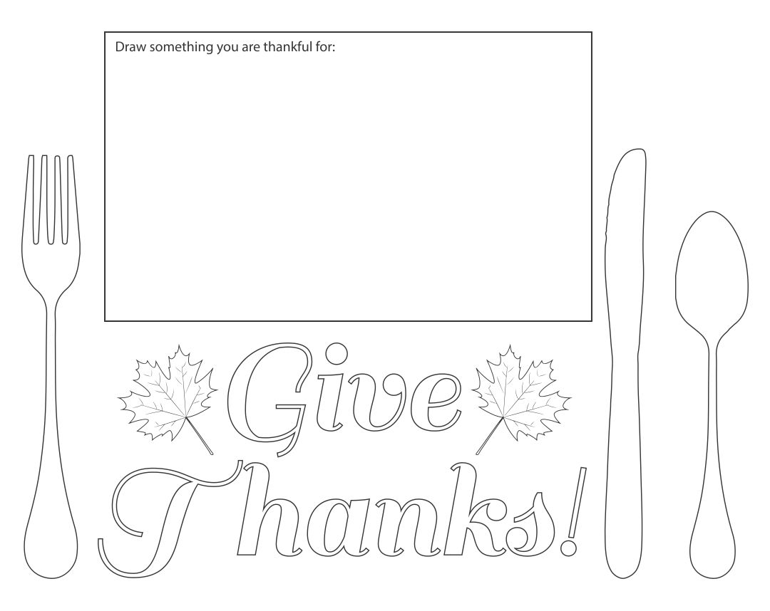 Printable Thanksgiving Placemats Preschool