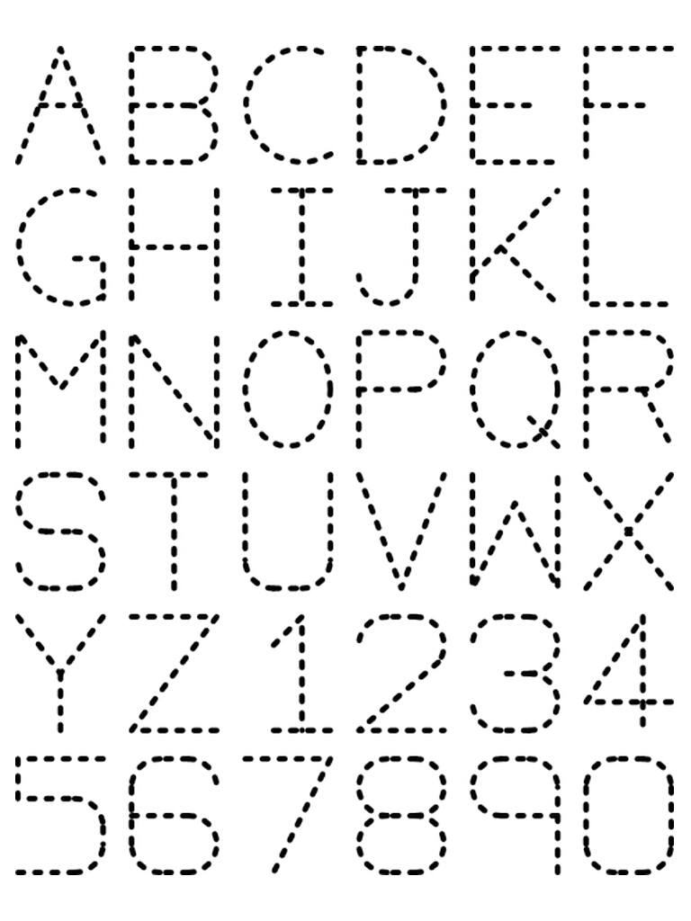 7 Images of Free Traceable Alphabet Letters Printable