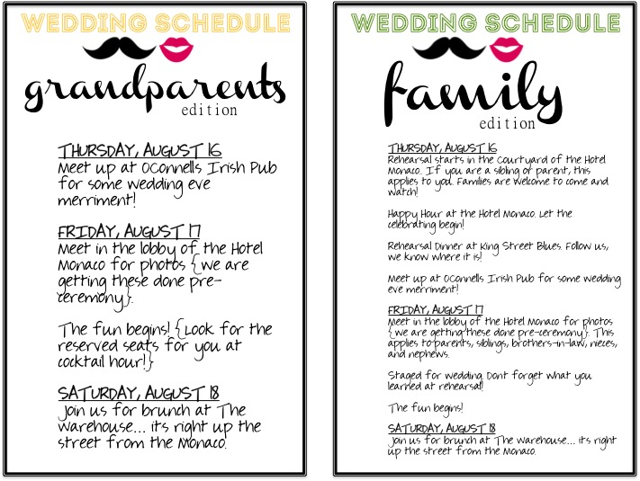 7 Images of Program Printable Wedding Day Schedule