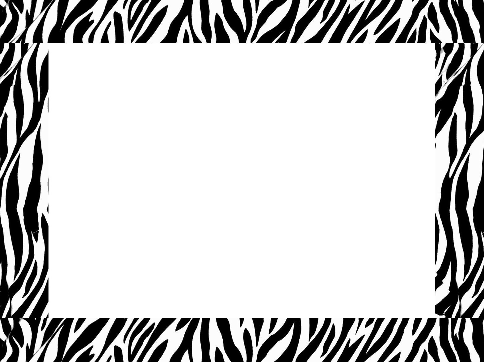 8 Images of Zebra Border Paper Printable