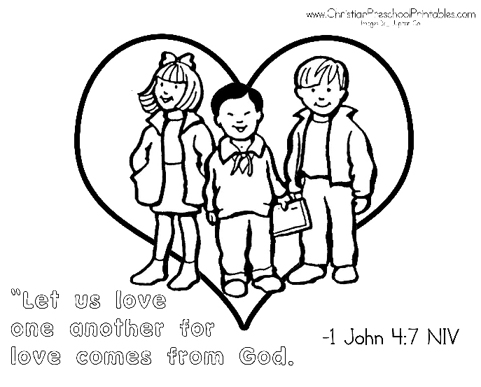 5 Best Images Of God Loves You Preschool Printable