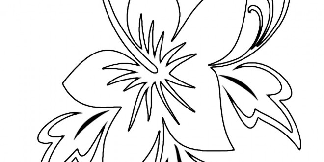 7 best images of hawaiian flowers coloring pages printable for Hawaiian flower coloring pages printable