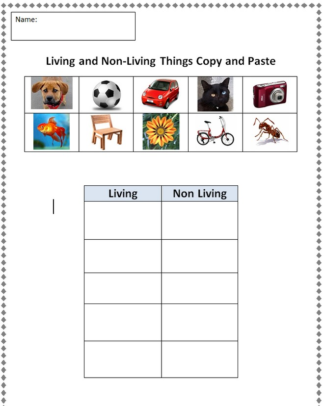 7 Images of Free Printables Living Things