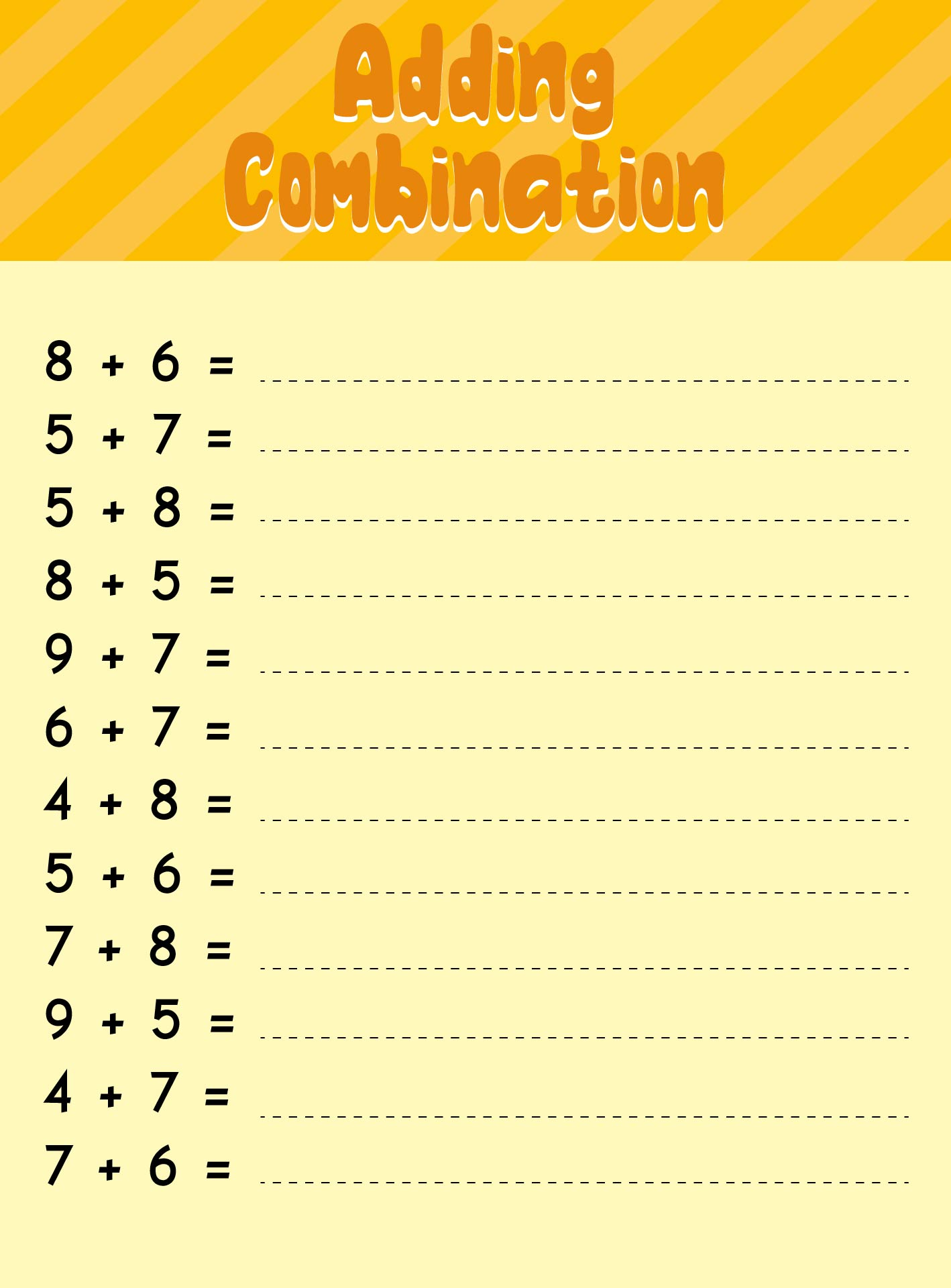 7 Best Images of Printable Math Addition Drill 13 - Mad Minute ...