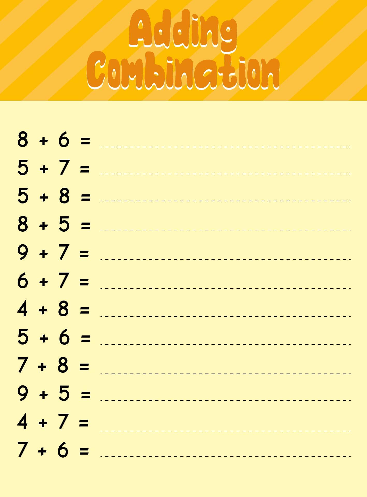 Math Addition Worksheets