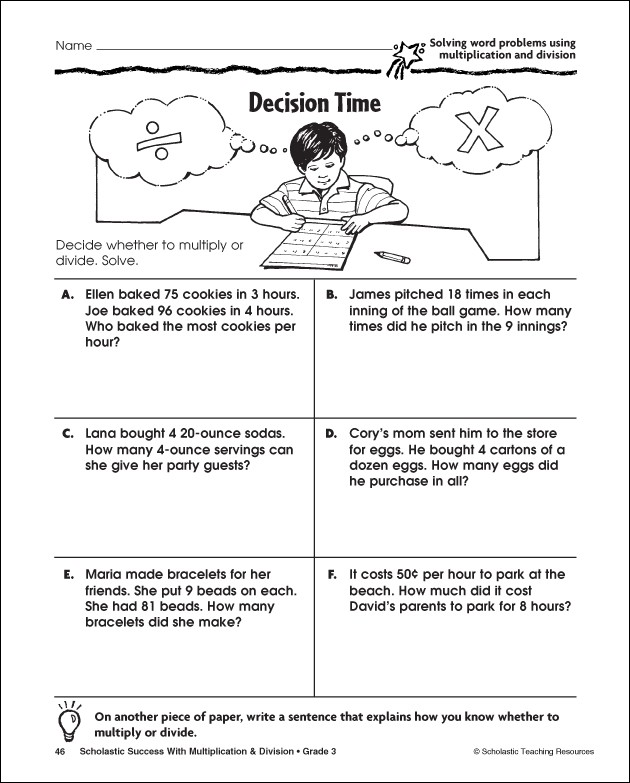 7 Best Images of Multiplication Word Problems Printable ...