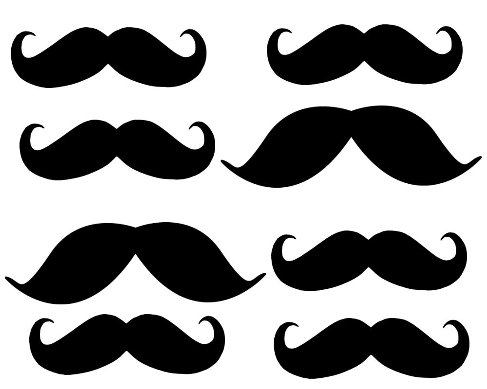 8 Images of Printable Mustache Cut Out