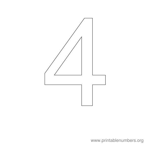 Number 4 Stencil Printable