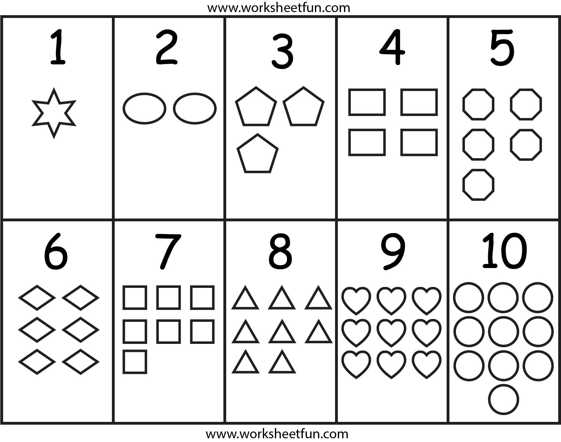 8 Best Images of Number Chart Printable For Preschool ...