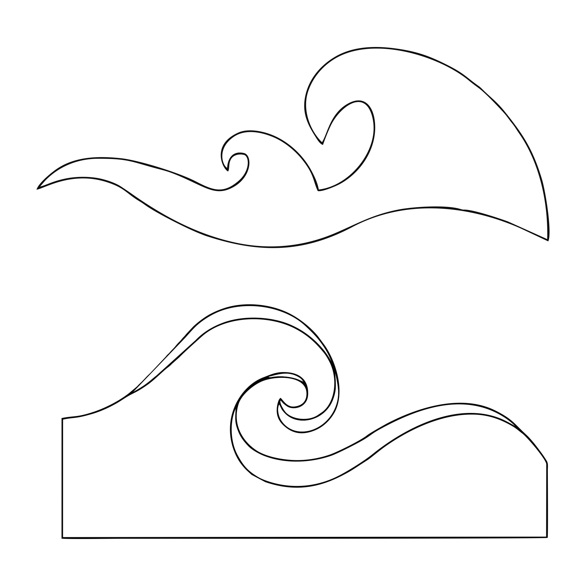 8 best images of free printable wave stencil